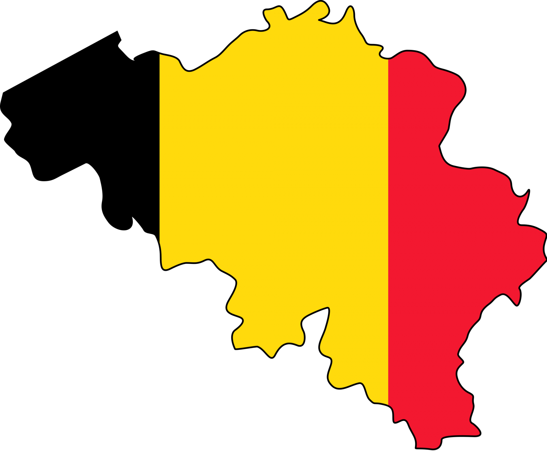 Belgium flag map