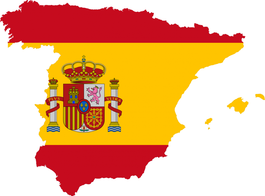 Spain flag map plus ultra